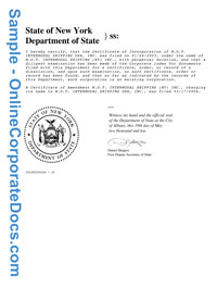 new york Good Standing Certificate